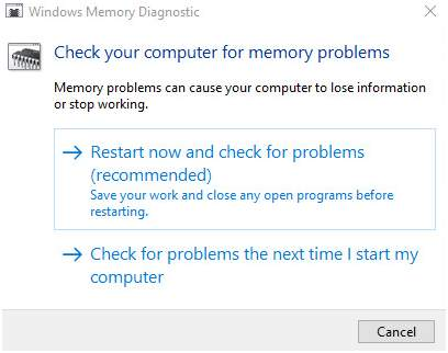 Check for problems the next time I start my computer