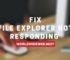 File Explorer Not Responding in Windows 10