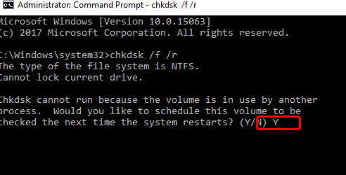 Run CHKDSK to Fix Memory Management