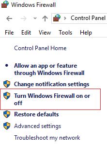 Turn Off Windows Firewall to Fix ERR_QUIC_PROTOCOL_ERROR