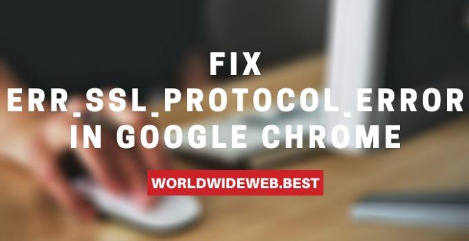 ERR_SSL_PROTOCOL_ERROR in Chrome
